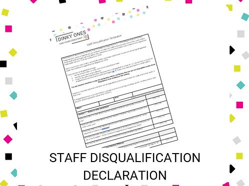 Staff Disqualification Declaration
