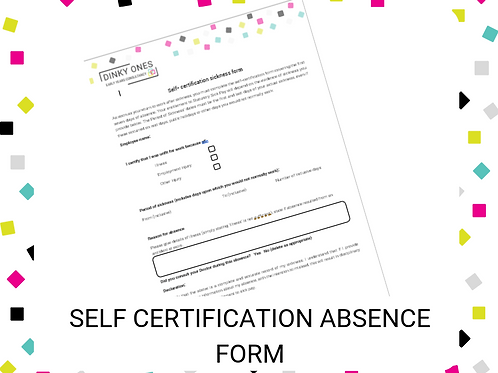 Self Certification Absence Form