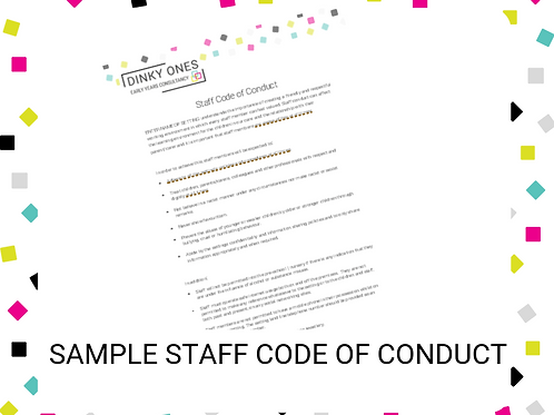 Sample Staff Code of Conduct
