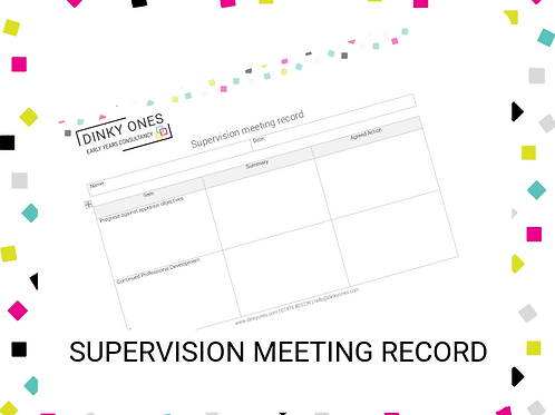 Supervision Meeting Record