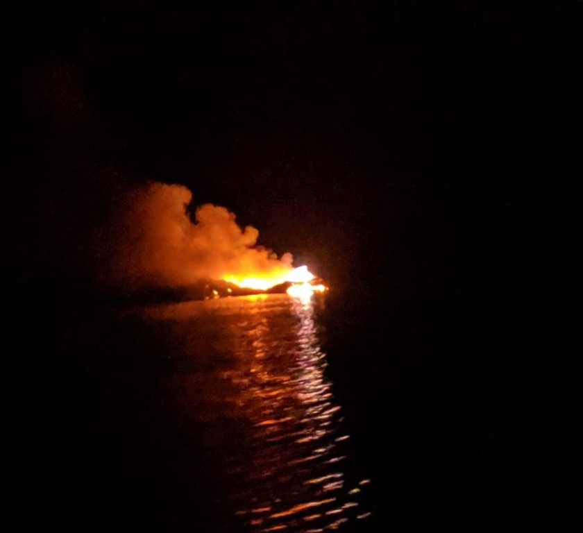 Watched a dock burn down the 4th of July – not mine!