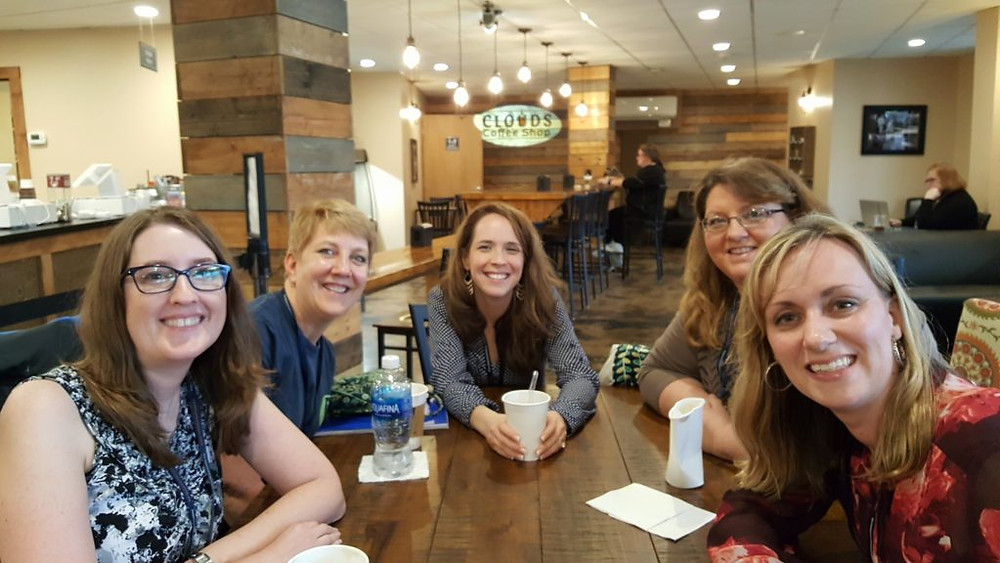 BRMCWC friends at the coffee shop at Ridgecrest Conference Center