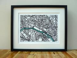 Paris - Art Map - A3 & A4