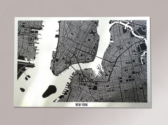 New York Metal Map