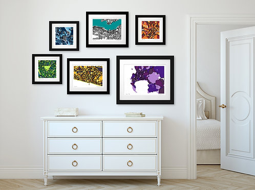 ART MAP PRINT (CHOOSE YOUR LOCATION)