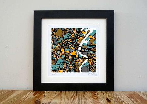 "Belfast Map - 8""x 8"""
