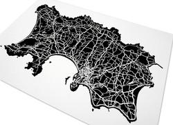 Jersey Art Map - Black - Detail