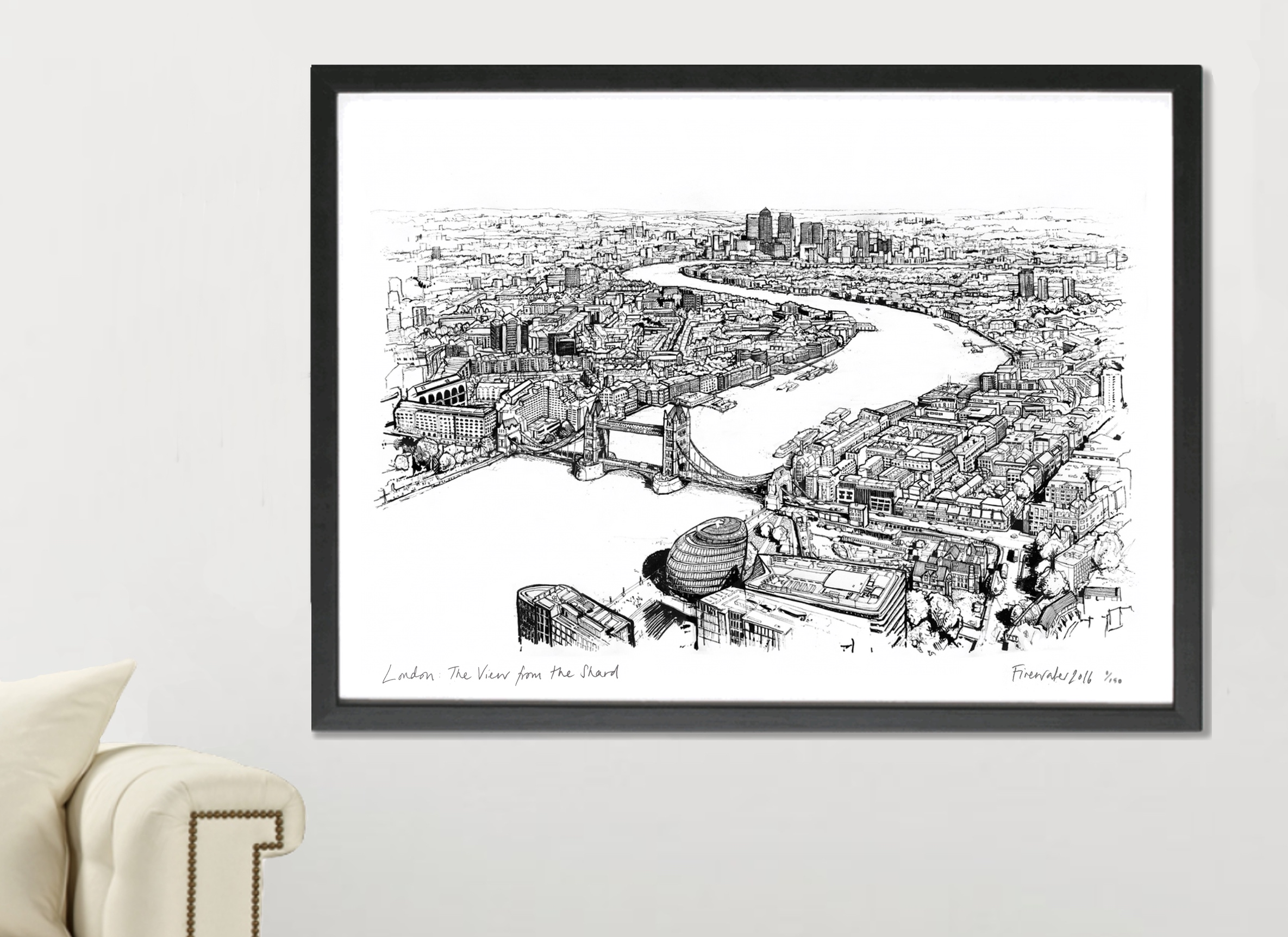 London, View From The Shard Art Print - A1 & A2