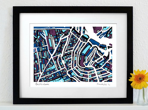 AMSTERDAM ART MAP PRINT