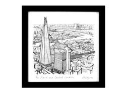 "The Shard & Central London - 8""x 8"""