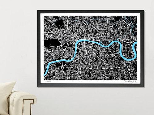 GIANT LONDON ART MAP PRINT