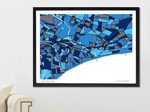 BOURNEMOUTH ART MAP PRINT