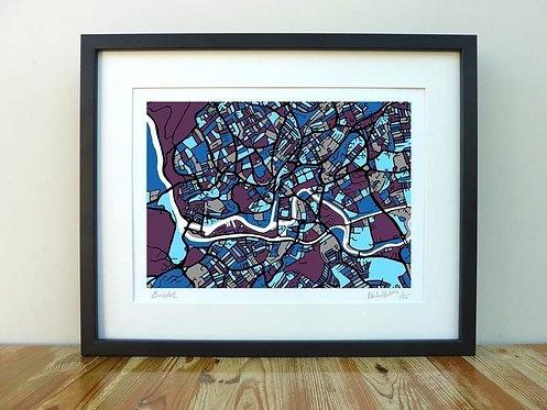 Bristol Map - A3
