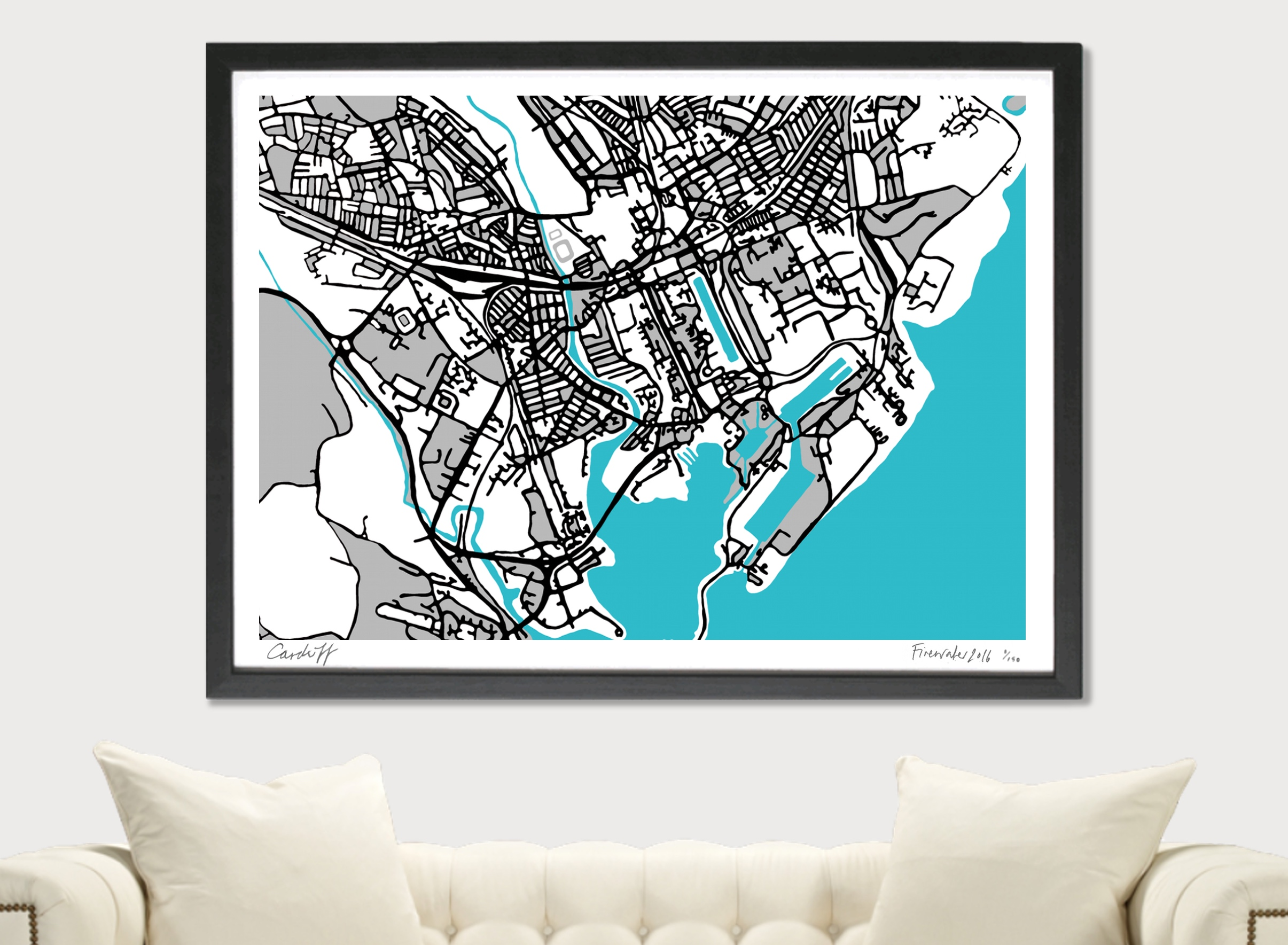 Cardiff Art Map - A1 & A2