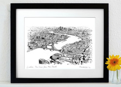 London, View From The Shard Art Print - A3 & A4