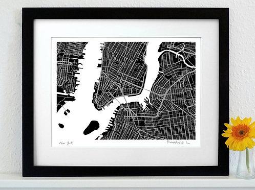 NEW YORK ART MAP PRINT