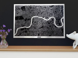 London Metal Art Map