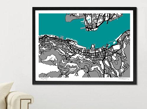 HONG KONG ART MAP PRINT