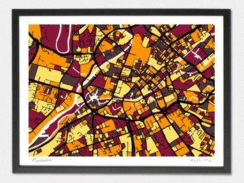 Manchester Map - A1