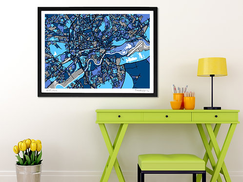 NOTTINGHAM ART MAP PRINT