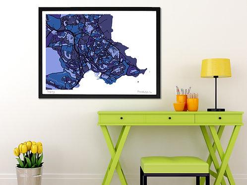 TORQUAY ART MAP PRINT