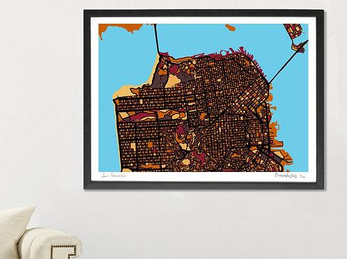 SAN FRANCISCO ART MAP PRINT