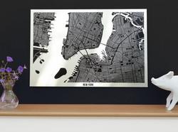 New York Metal Map