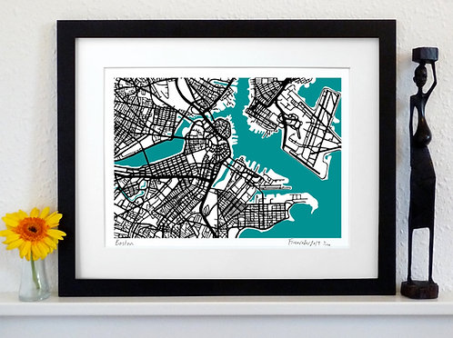 BOSTON ART MAP PRINT