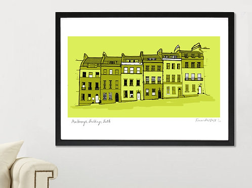 MARLBOROUGH BUILDINGS, BATH LANDSCAPE PRINT