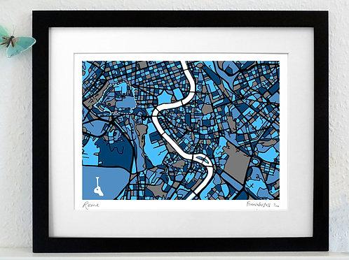 ROME ART MAP PRINT
