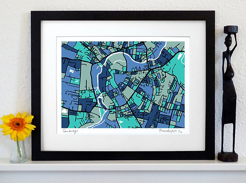 CAMBRIDGE ART MAP PRINT