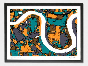 East London Map - A1