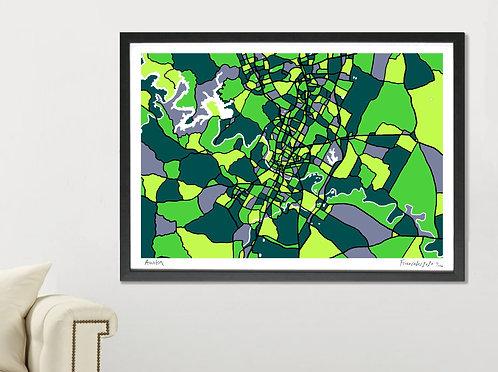 AUSTIN ART MAP PRINT