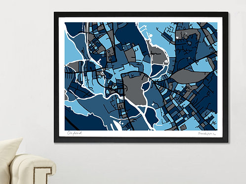 OXFORD ART MAP PRINT