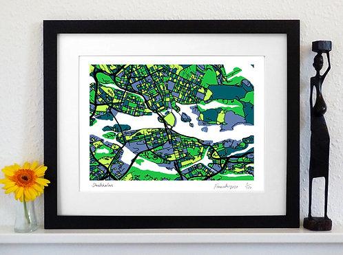 STOCKHOLM ART MAP PRINT
