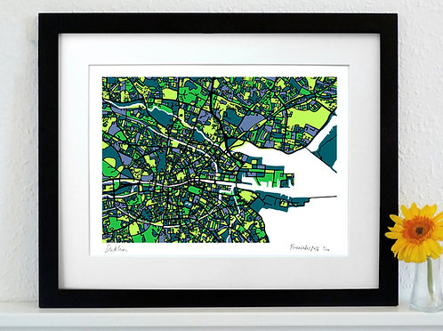 DUBLIN ART MAP PRINT