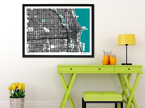 CHICAGO ART MAP PRINT