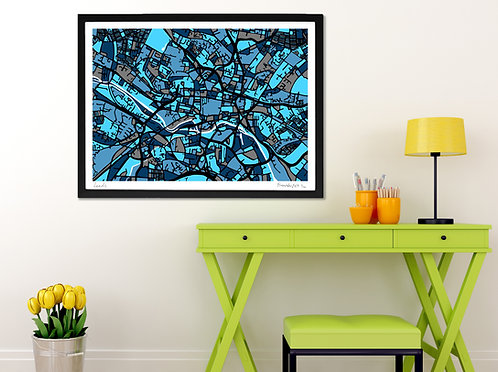 LEEDS ART MAP PRINT