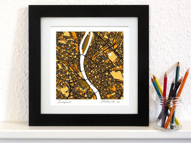 Budapest Art Map - 8x8