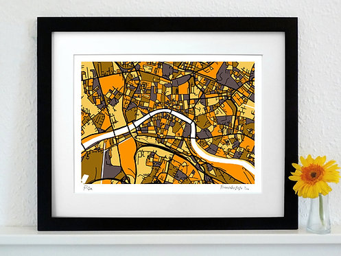PISA ART MAP PRINT