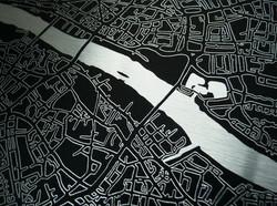 London Metal Art Map Detail