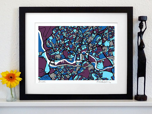 BRISTOL ART MAP PRINT