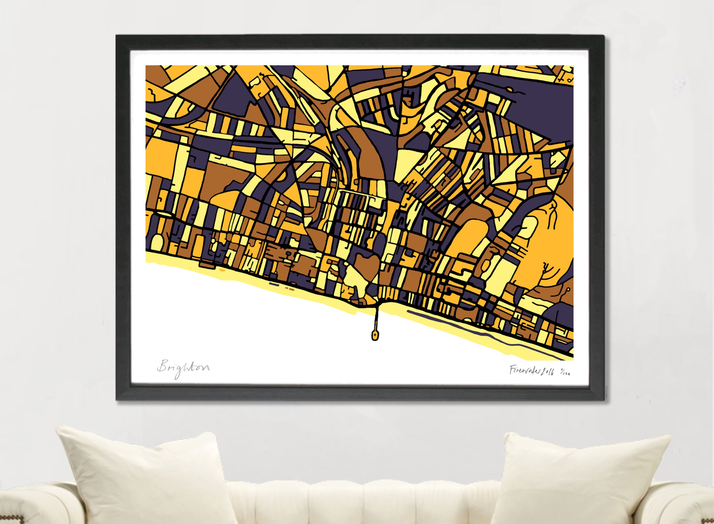 Brighton Art Map - A1 & A2