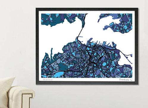 AUCKLAND ART MAP PRINT