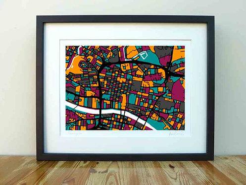 Glasgow Map - A4