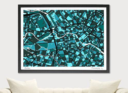 BERLIN ART MAP PRINT