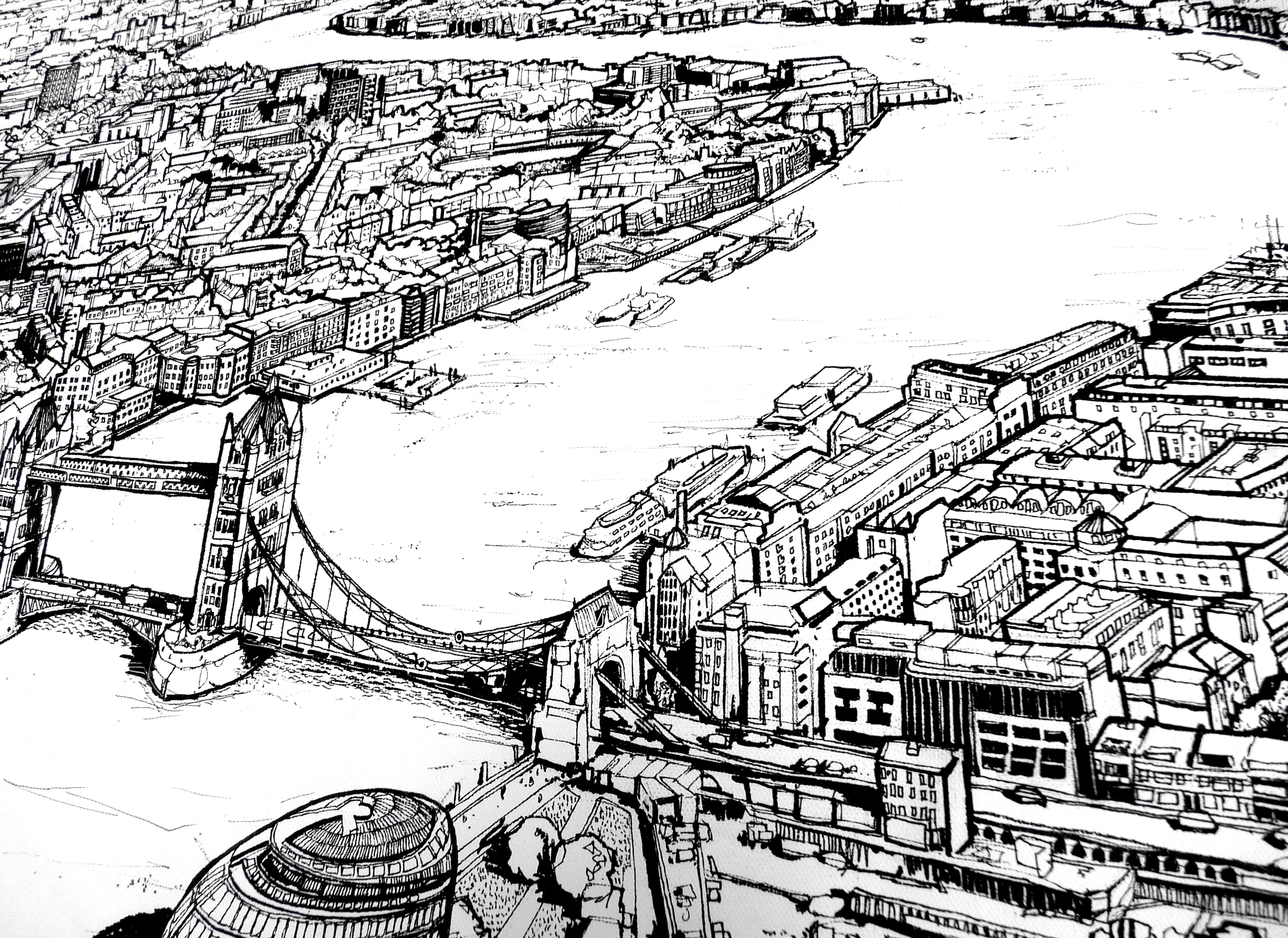 View From The Shard Art Print - Detail 2