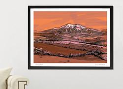 Snowdon Art Print - Red - A1_A2