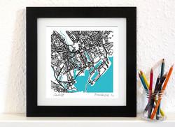 Cardiff Art Map - Square