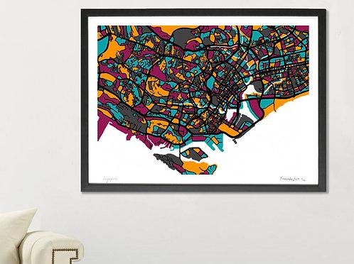 SINGAPORE ART MAP PRINT